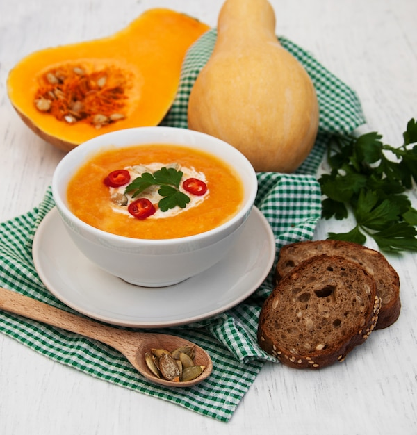 Sopa de abóbora Foto Premium