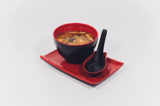 Sopa de missô, comida japonesa Foto Premium