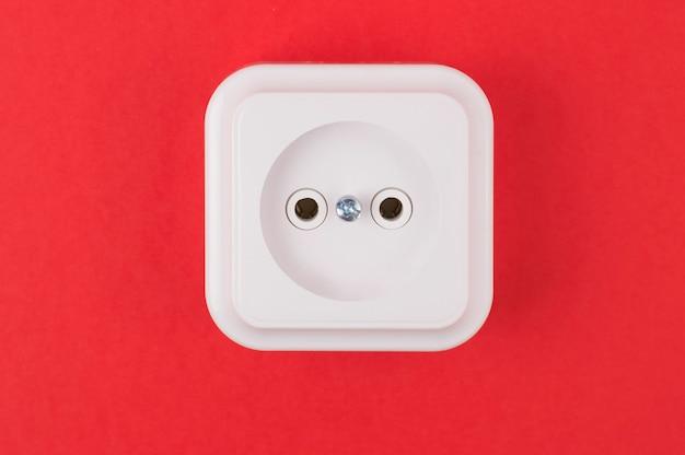 Soquete branco no vermelho Foto Premium