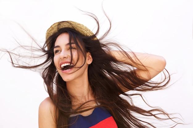 Resultado de imagem para Mulher com cabelos ao vento