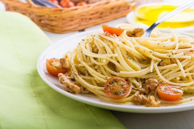 Spaghettis saudável Foto Premium