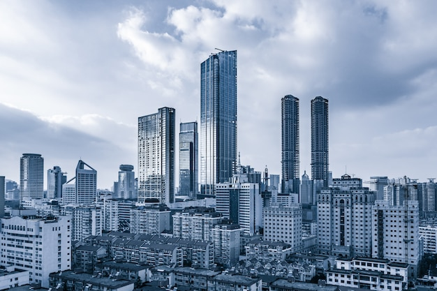 Steel business prédio urbano observação Foto gratuita