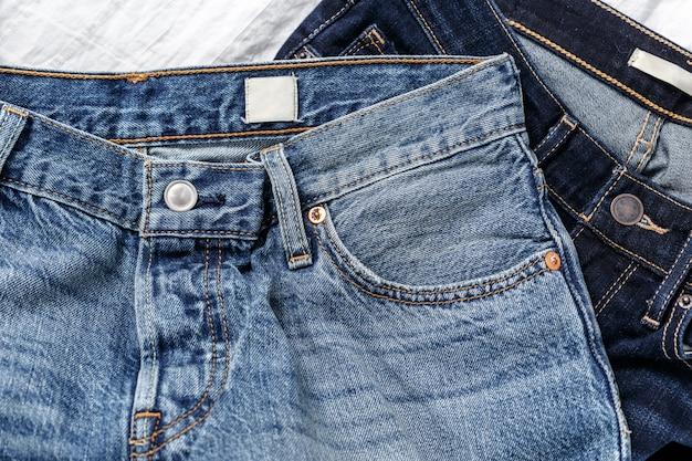 Studio shot jeans, roupas, denim Foto Premium