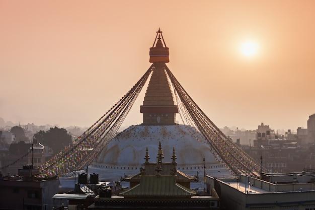 Stupa de boudhanath, kathmandu Foto Premium