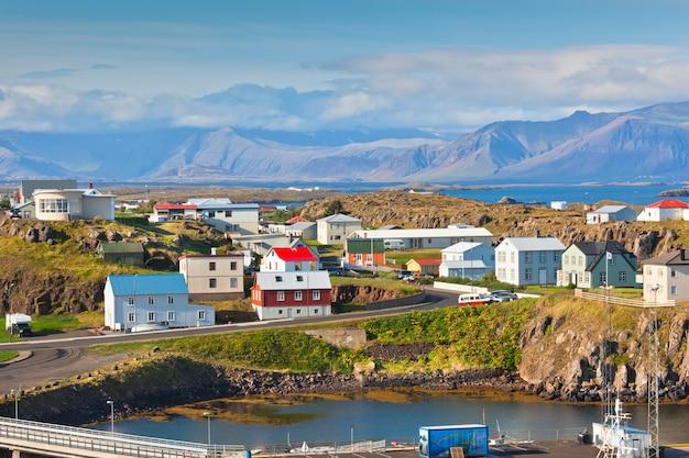 Stykkisholmur, a parte ocidental da islândia Foto Premium