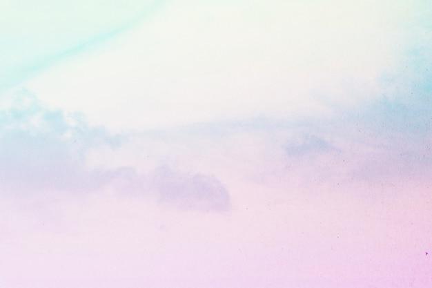 Suave nublado é pastel gradiente, fundo do céu abstrato Foto Premium