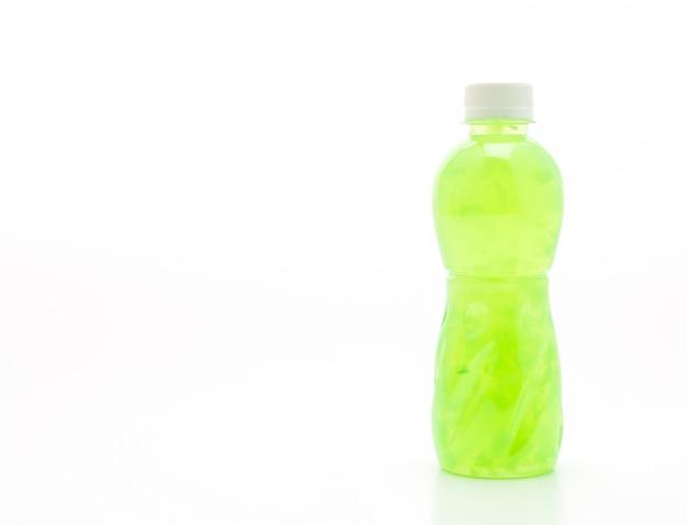 Suco de maçã com nata de coco ou geléia de coco Foto Premium