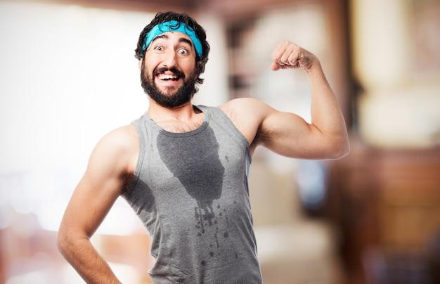 Sudorese atleta masculino Foto gratuita
