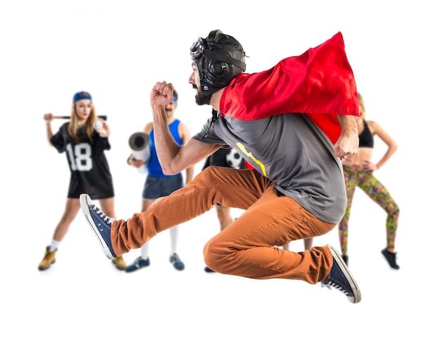 Super-herói corre rápido Foto Premium
