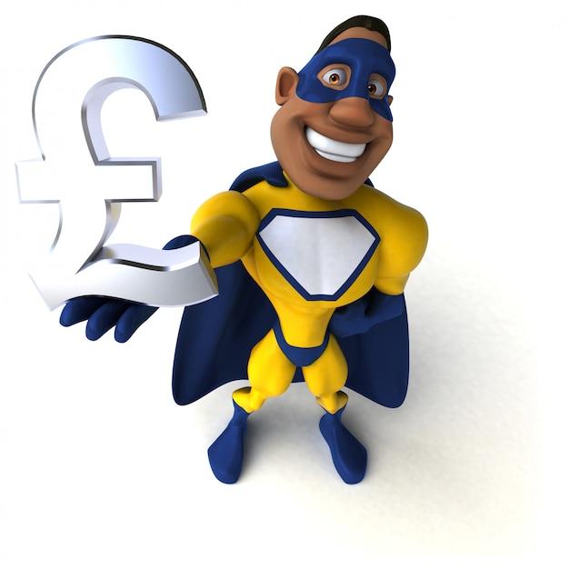 Super-herói divertido - ilustração 3d Foto Premium