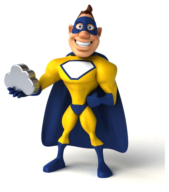 Super-herói divertido Foto Premium