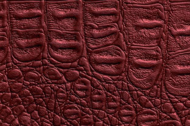 Superfície com textura de couro vermelho escuro Foto Premium