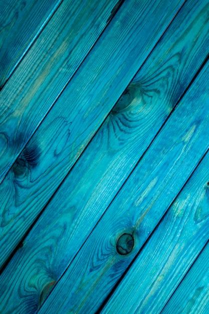 Superfície de madeira azul Foto Premium
