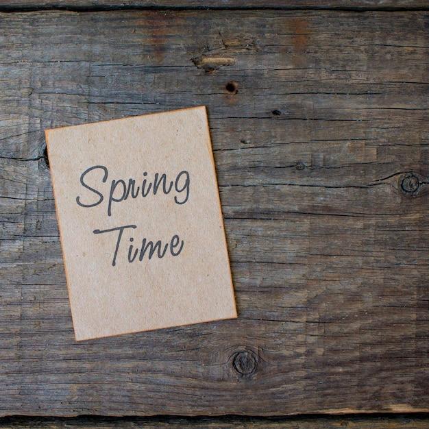 Superfície de madeira de tempo de primavera Foto Premium