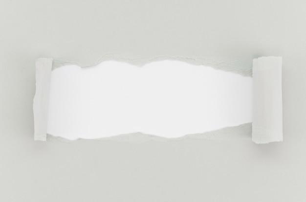 Superfície de papel rasgado cinza Foto Premium