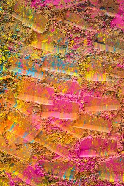 Superfície pintada rosa com estampas Foto gratuita