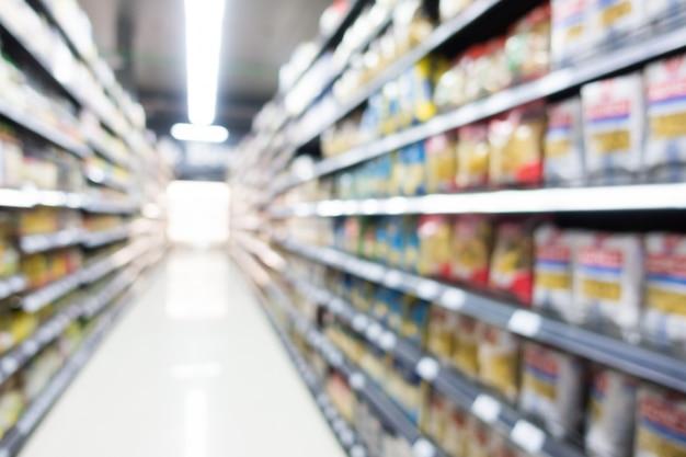 Supermercado de borrão abstrata em loja de departamento Foto gratuita