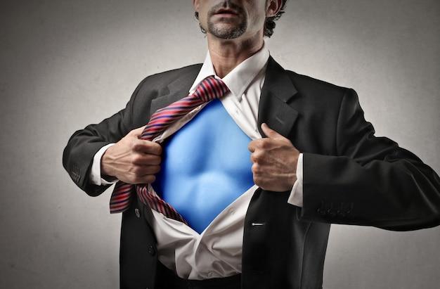 Superpotência de um empresário Foto Premium