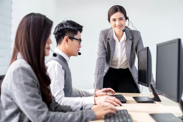 Supervisor de call center Foto Premium