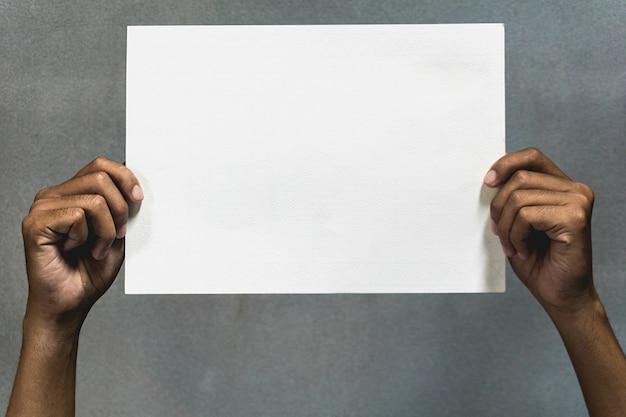 Suporte de papel branco Foto Premium