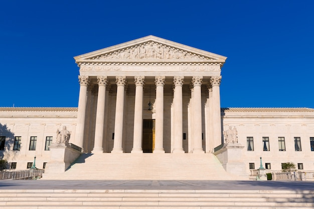 Suprema corte dos estados unidos em washington Foto Premium