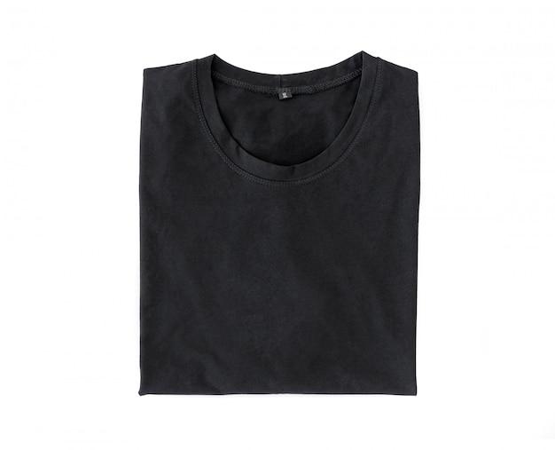 T-shirt dobrada preta Foto Premium