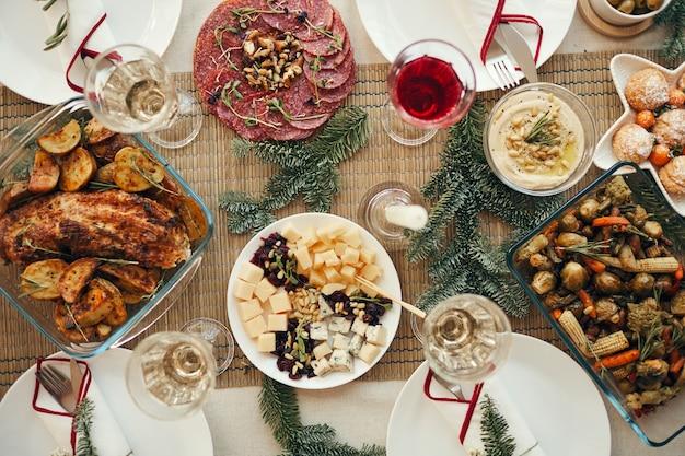 Tabe do jantar de natal Foto Premium