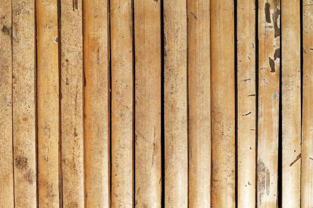Tabela de madeira de bambu velha de superfície para o fundo Foto Premium