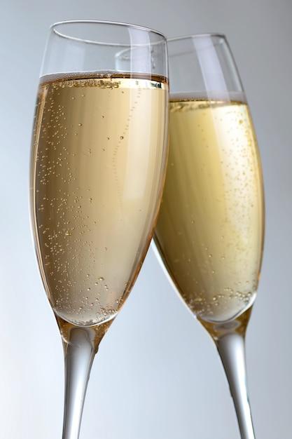 Taças de champanhe elegantes Foto Premium