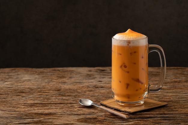 Tailandesa chá famosa bebida bebida tradicional Foto Premium