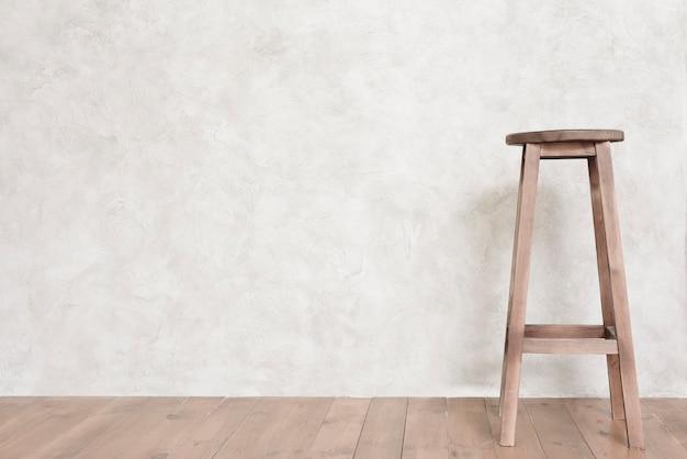 Tamborete de bar de design minimalista de close-up Foto gratuita