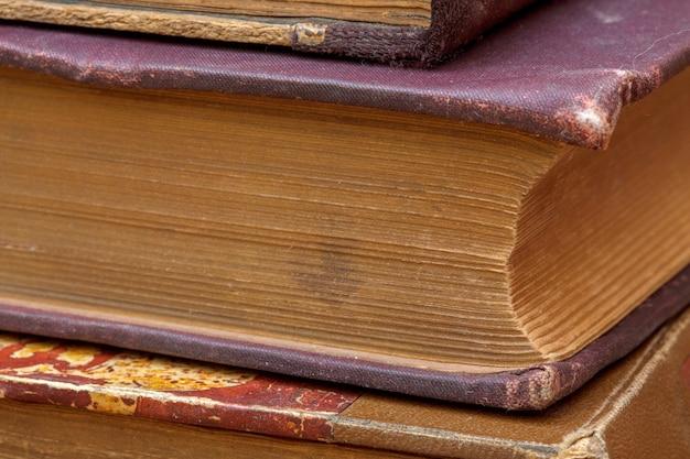 Tampas de textura de livros antigos Foto Premium