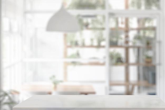 Tampo da mesa de mármore na sala de estar Foto Premium