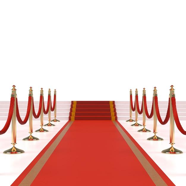 Tapete vermelho com cordas vermelhas Foto Premium