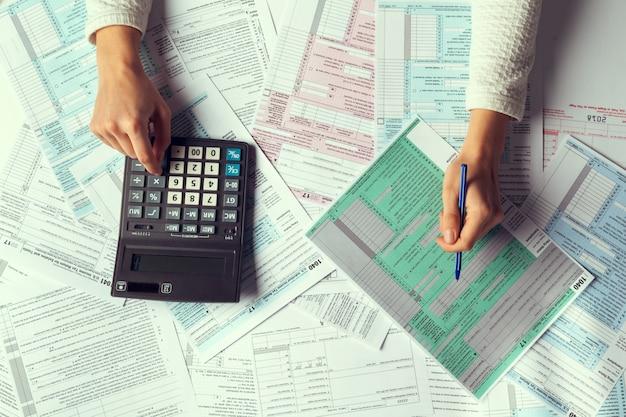 Tax time, concept image, Foto Premium
