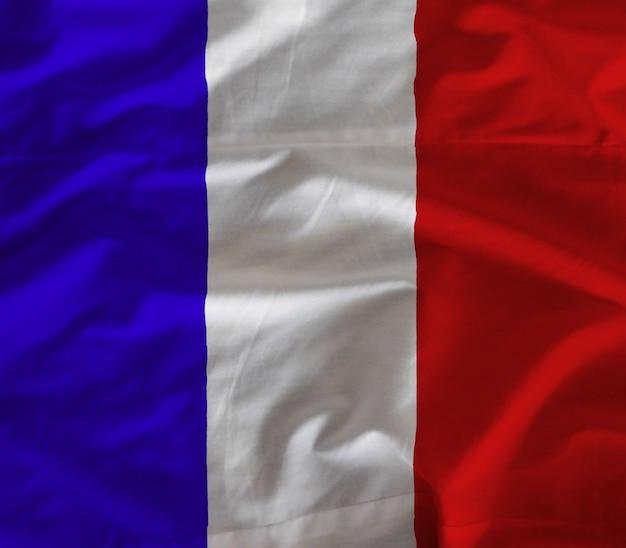 Tecido bandeira da frança Foto Premium