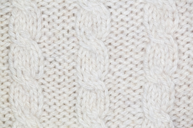 Tecido de lã branca Foto Premium