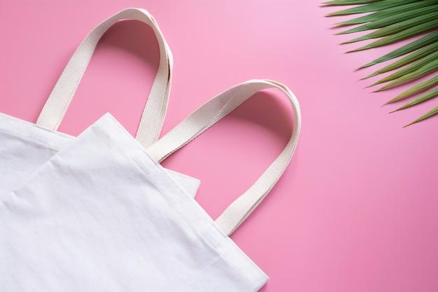 Tecido de lona de sacola branca Foto Premium
