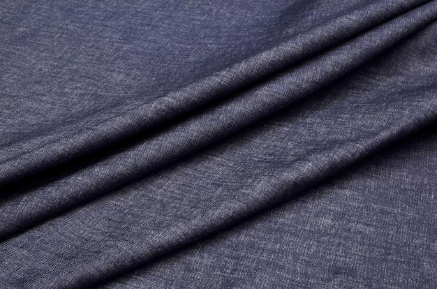 Tecido denim escuro Foto Premium