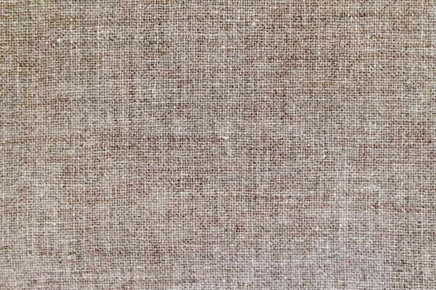 Tecido natural de algodão de linho, textura de fundo eco Foto Premium