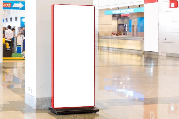 Tecido pop up unidade básica publicidade banner media display pano de fundo, fundo vazio Foto Premium