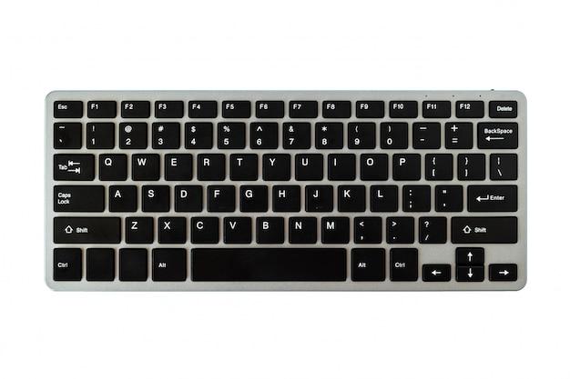 Teclado de computador moderno isolado no branco Foto Premium