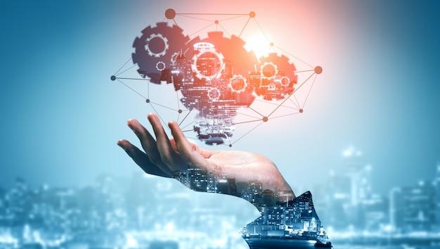 Tecnologia da inovação para negócios finanças fundo Foto Premium