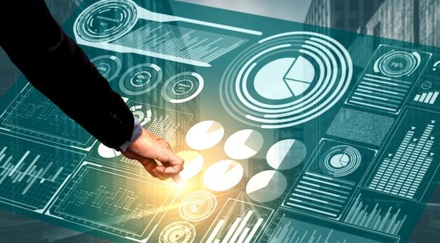 Tecnologia de big data para business finance Foto Premium