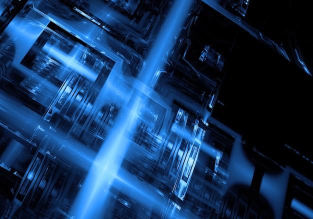 Tecnologia De Fundo Azul Do Papel De Parede
