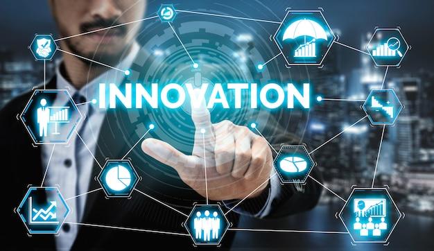 Tecnologia de inovação para o conceito de finanças empresariais Foto Premium