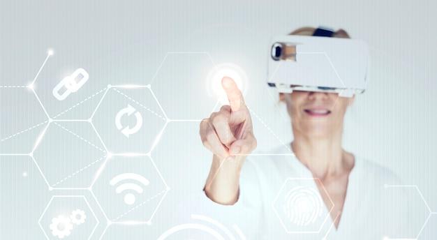 Tecnologia futurista Foto Premium