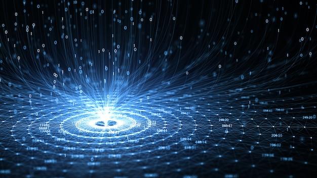 Tecnologia inteligência artificial (ia) e internet das coisas iot conceito. Foto Premium
