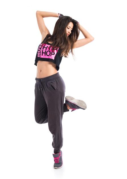 Teenager girl dancing hip hop   Foto Premium
