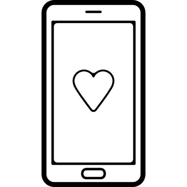 Simbolos de Telefone Celular Telefone Celular Com um